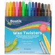 Bostik Wax Twisters Retractable Wax Crayons 14 Pack