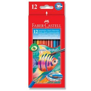 Faber-Castell Watercolour Pencils Full Length 12 Pack