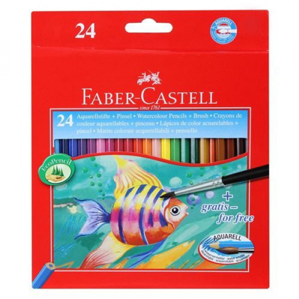 Faber-Castell Watercolour Pencils Full Length 24 Pack