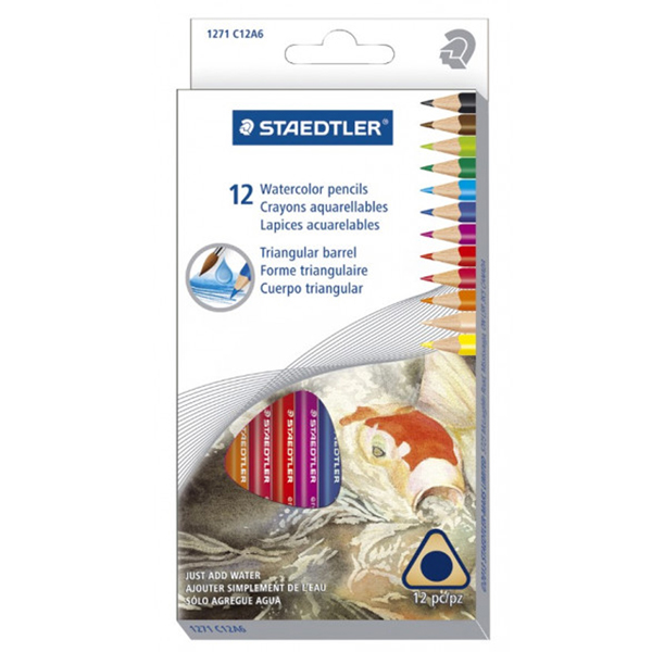 STAEDTLER Watercolour Pencils Full Length 12 Pack