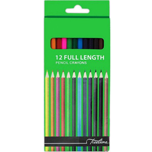 Treeline Pencil Crayons Full Length 12 Pack