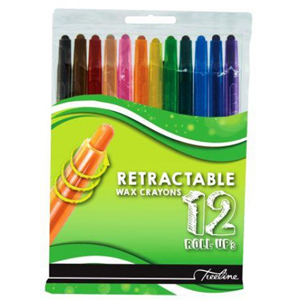 Treeline Roll-UP's Retractable Wax Crayons 12 Pack