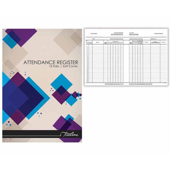 Treeline Soft Cover Attendance Register A4