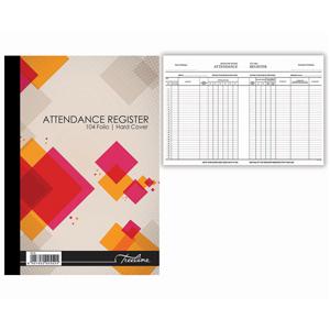 Treelive Hardcover Attendance Register A4
